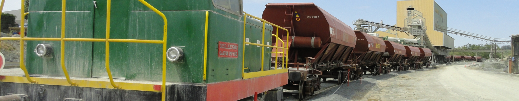 Expédition des matériaux par train