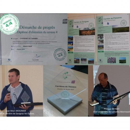Remise des diplômes de la Charte Environnement